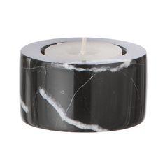 Marble ljushållare, svart i gruppen Inredningsdetaljer / Dekoration / Ljuslyktor & Ljusstakar hos RUM21.se (129527)