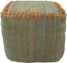 POUFS Surya ottoman/pouf 187 made from jute rug with heave jute rope stitching.
