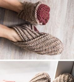 Rustic Wrap Slippers Crochet Kit