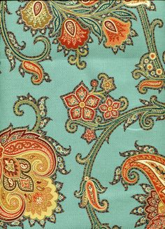Floral img9065 from LotsOFabric.com! The teal and orange combination in this Jacobean pattern make it modern and unexpected. Full drapery treatments or even upholstery projects would be stunning in this pattern. Order swatches online or shop the Fabric Shack Home Decor collection in Waynesville, Oh.