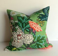 Chiang Mai Dragon - 20 inch Decorative pillow Cover - in Jade    ****In stock and ready to ship****    This listing features the lotus flower and