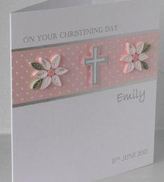 Handmade Christening card personalized by PaperDaisyCardDesign