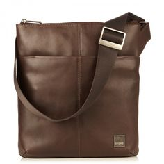 Kyoto Soft Leather Cross-Body Bag Brown