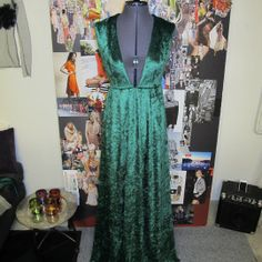 Almost finished the green dress