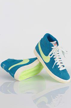 Nike Blazer Hi Suede Vintage kengät Neptune Blue 99,90 € www.dropinmarket.com