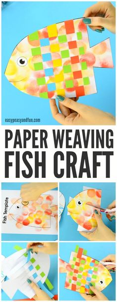 Colorful Fish Paper Weaving Craft for Kids