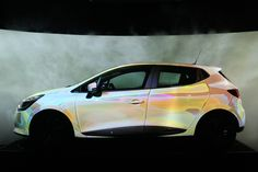 renault touch projection mapping reacts naturally with lutecia's form - designboom   architecture LOVE THAT COLOR