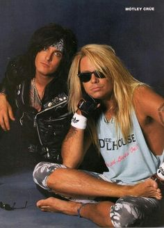 Nikki Sixx and Vince Neil, Motley Crue Girls Girls Girls, Glam Metal, Tommy Lee, Nikki Sixx, Glam Rock, Heavy Metal, Shout At The Devil, 80s Hair Bands, Vince Neil