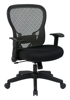 Office Star 529 Series Egrid Back Chair With Flip Arms In Black