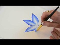 One Stroke Painting with Donna Dewberry - How to Paint Wildflowers, Pt. 2: Stalk, Thistle, and Daisy