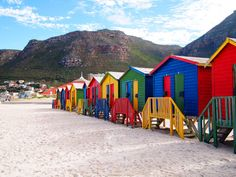 Muizenberg Beach - Cape Town, África do Sul. All Inclusive Caribbean Resorts, Resorts For Kids, Australia Beach, Cape Town South Africa, Tourist Spots, Color Of Life, Beautiful Places To Visit, Africa Travel, Beach Huts