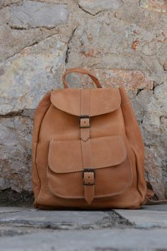 aa9cf477f7a Beige Leather Backpack, Handmade backpack, School bag, Laptop bag, Men  Backpack, Women Backpack, Leather satchel, Unisex Bag, Shoulder bag