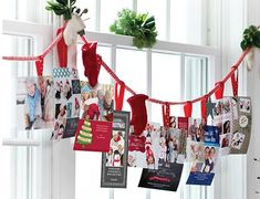 Wondering what to do with all those Christmas cards? Show them off with your own festive holiday card display—and add some Christmas cheer to your windows, too.
