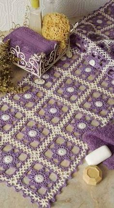 Lilac Blossoms Table Runner.