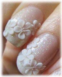 short wedding nails - Google Search