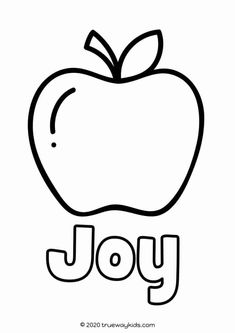 The Fruit of the Spirit coloring page for kids. FREE to print and use at home or church Free Bible Coloring Pages, Colouring Pages, Coloring Pages For Kids, Movement Activities, Counting Activities, Free Translation, Fruit Bearing Trees, Preschool Bible Lessons, Music And Movement