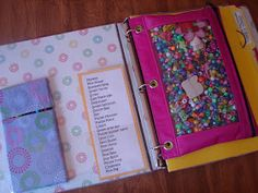 A girl and a glue gun: quiet book/activity binder perfect to keep the kids from making your rip your hair out!!!!