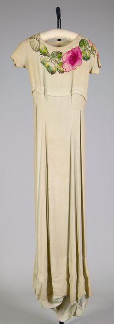 Evening dress House of Schiaparelli (French, 1928–1954) Designer: Elsa Schiaparelli (Italian, 1890–1973) Date: fall 1936 Culture: French Me...