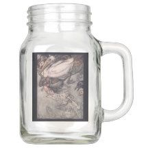 Start designing your own William Morris Mason jar today with Zazzle! Make a statement at your next event with these unique favors made just for you! Mason Jar Glasses, Mason Jar Gifts, Mason Jar Diy, Alice In Wonderland Mug, Purple Mason Jars, Drinking Jars, Green Carpet, Jar Crafts, Home Living