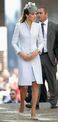 4/20/14 Kate attends Easter Sunday Service at St. Andrews Cathedral in Sydney, Australia.