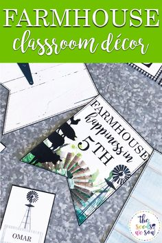 Are you ready to welcome your students back to school with a fun, fresh farmhouse-themed look? Do you want a low-prep, eye-catching, and modern display for your farmhouse-themed classroom? Well, look no further. I've got you covered! #classroombanners #farmhouseclassroomdecor #farmhousebanners #farmhousethemeclassroom #farmhousetheme