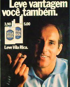 """Anúncio cigarros Vila Rica - 1976   A expressão """"Gosto de levar vantagem em tudo. Certo! Leve vantagem você também"""", frase pronunciada em anúncios da TV e impressos, pelo jogador de futebol Gerson e, que entrou para a história como a """"Lei de Gerson""""."""