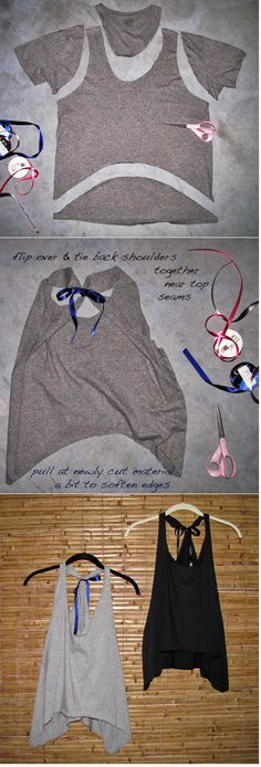 Make a tank-top. I might have to do this with some of my old 4-H shirts...