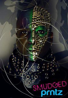 avant garde makeup green makeup www.smudgedprntz.com