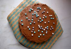 Yellow Cake with Easy Chocolate Frosting
