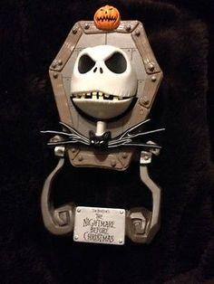 NIGHTMARE BEFORE CHRISTMAS JACK Skellington DOOR KNOCKER SEGA Retro 90s Disney #SEGA