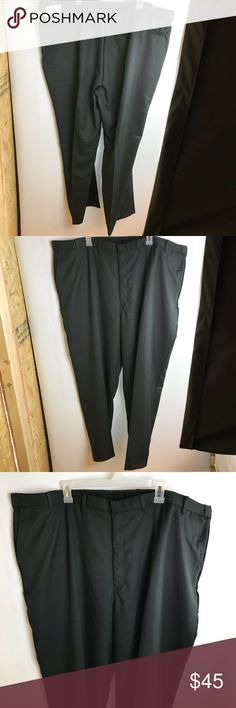 "Edwards size 50 UL men's dress pants black NWT Edwards size 50 UL Men's dress pants black microfiber 100% Polyester Made in Haiti  Length 46"" Inseam 34.5"" Waist 24"" Front rise 14"" Edwards Pants Dress"