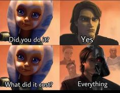 Star Wars Rebels, Star Wars Clone Wars, Star Wars Art, Starwars, Prequel Memes, Star Wars Jokes, Star Wars Pictures, The Force Is Strong, Marvel Memes