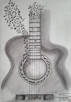 Guitar drawing guitar drawing 314917 guitar sketch art inspiration tips and ideas in 2019 guitar sketch 3d Pencil Sketches, Pencil Drawings Tumblr, Music Drawings, Art Drawings Sketches, Love Drawings, Easy Drawings, Aesthetic Drawings, People Drawings, Disney Drawings