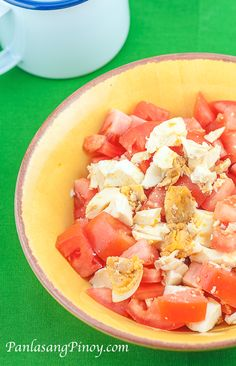 Salted Eggs and Tomato Salad or Itlog na maalat with kamatis is probably one of the easiest Filipino salad that I've ever made. This dish is quick and very easy to prepare. It is best served as a side for grilled dishes.