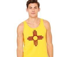 NEW! Zia Tank Top Unizex Tank Top New Mexico Flag Distressed Zia http://etsy.me/2tjeulN via @Etsy #zia #sun #summer #newmexico #flag
