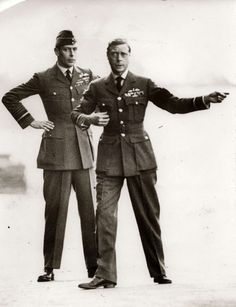 """King Edward VIII """"David"""" later Duke of Windsor, UK (R) & his brother Albert Duke of York, later King George VI, UK (L). Albert succeeded him as King George VI, UK when Edward VIII abdicated the UK throne to marry Mrs. Victoria Reign, Queen Victoria, Eduardo Viii, Edward Windsor, British Royal Families, British Family, Wallis Simpson, Church Of England, Prince And Princess"""