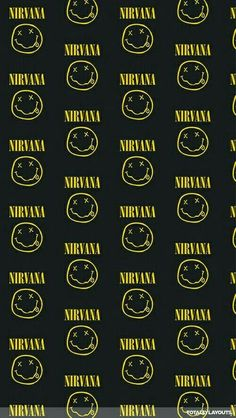Nirvana Wallpaper Iphone Wallpaper Vintage Quotes, Emo Wallpaper, Pink Wallpaper Iphone, Rock Band Posters, Rock Poster, Guns In Roses, Nirvana Logo, Nirvana Art, Paper Ipad