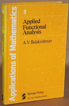Applied Functional Analysis - Balakrishnan - 1976 Functional Analysis, How To Apply, Ebay