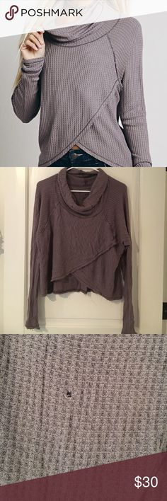 Free people we the free cowl neck shirt Beautiful boho cowl neck free people shirt. Tony hole in front.  Other then that perfect condition. Free People Tops Tees - Long Sleeve