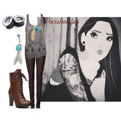 """Pocahontas Based Punk"" by sabrinav625 on Polyvore"