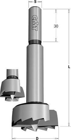 broca c/ónica 1 Broca astilladora de alta velocidad para madera y le/ña 32mm Round Handle