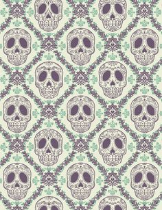 Skull wallpaper.  Would make for an awesome accent wall in a small office or something!