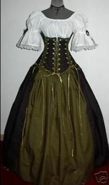 The Vixen - renaissance clothing medieval costume great sleeves on blouse