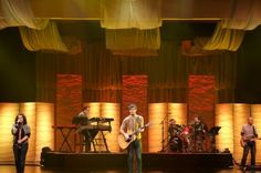 Love the textures! | Church Stage Design Ideas