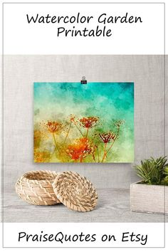 Watercolor Garden Framed Wall Art Print Floral Watercolor