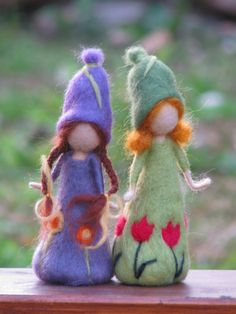Needle felted spring dolls waldorf inspired doll. $32.00, via Etsy.
