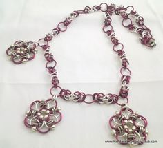 Byzantine Flower Chain Maille Necklace Tutorial jump rings: http://www.ecrafty.com/c-201-jump-rings-split-rings.aspx