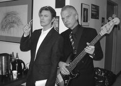 BOWIE WITH PRODUCER VISCONTI