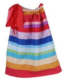 Another great find on #zulily! Red & Blue Stripe Pillowcase Dress - Infant, Toddler & Girls #zulilyfinds