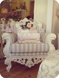 Shabby Chic Chair Decor - Lovely!
